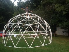 Learn to build a geodesic dome using hardware store PVC pipe and SketchUp.