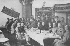 Зустріч Івана Франка х січовими стрільцями у Львові. Фото. 1916 р.