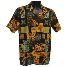 chemise hawaienne … HAWAII BROWN