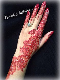 Laraib's mehndi design for brides