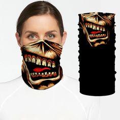 Eddie Iron Maiden Mascot Bandana Shield B1246 Iron Maiden Mascot, Personalized Products, Bandana, Skull, Rage, Bandanas, Skulls, Sugar Skull