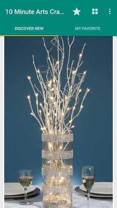 How to make Sparkly Branches