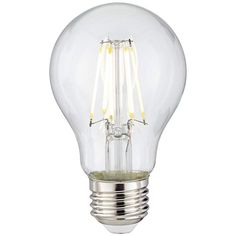 Clear 8 Watt Dimmable A19 LED Filament Light Bulb - #7D132 | Lamps Plus