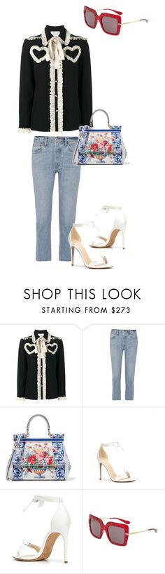 """""""Untitled #57"""" by nextep99 ❤ liked on Polyvore featuring Gucci, RE/DONE, Dolce&Gabbana and Alexandre Birman"""