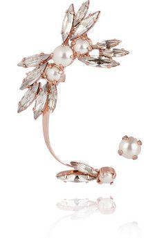 Ryan Storer gold-plated crystal and pearl ear cuff (more Ryan Storer here http://chicityfashion.com/ryan-storer/)
