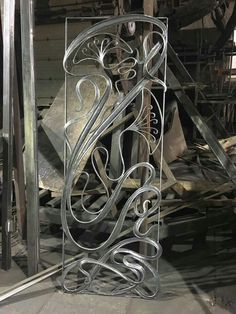 Metal Gates, Metal Railings, Wrought Iron Gates, Art Nouveau, Man Cave Art, Steel Sculpture, Iron Art, Metal Projects, Iron Decor