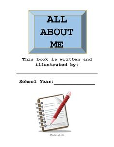 This packet provides your students an opportunity to share all about their interests, friends, family, favorites, etc.  The pages vary from short answers to drawing and coloring.  It is a fantastic way to get to know your students while also being able to informally assess their writing, interests, and work habits.