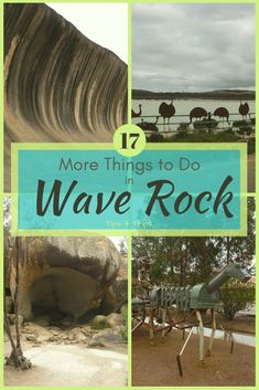 : A West Australia Road Trip to the Golden Outback/Wheatbelt to See Landscapes of Wave Rock, Hippos Yawn, Lake Magic, Mulkas Cave Visit Australia, Western Australia, Australia Travel, Queensland Australia, Stuff To Do, Things To Do, Wave Rock, Travel Inspiration, Travel Ideas