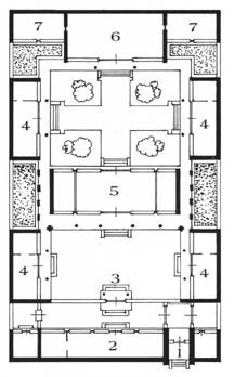 Plans on pinterest chinese courtyard pompeii and house Birds eye view house plan