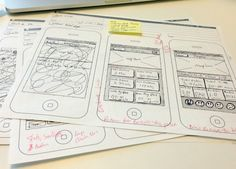 Sketches of Android app development process