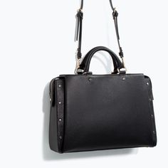 ZARA - SHOES & BAGS - STUDDED OFFICE CITY BAG