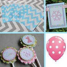 Winter ONEderland Birthday Party Decorations by PartyOnPurposeShop