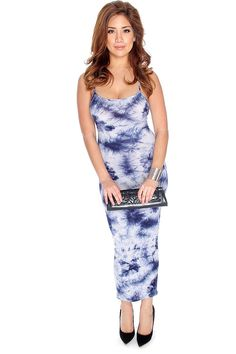 Steal the show in this stunning and comfy dress! Featuring; sleeveless, tie dye, gradient, round neck, criss cross back. Followed by a fitted wear. 96% Rayon 4% Polyester
