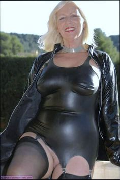 "bidamster: ""Beautiful blond mature in sexy latex outfit, i love it "" Sexy Sandy Secrets, Black Women Fashion, Womens Fashion, Latex Dress, Sexy Latex, Satin Blouses, Lingerie Collection, Beauty Women, Sexy Women"