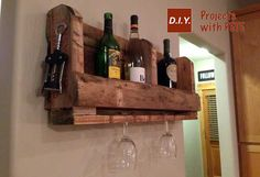 wine rack made out of pallets | How-to-make-a-pallet-wine-rack-tutorial