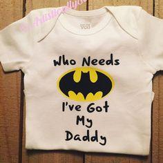 Batman onesie, little boy onesie, daddy superhero, superhero onesie, boy bodysuit, batman bodysuit, superman onesie