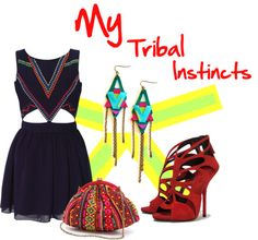 """Warrior Princess - My Tribal Instincts"" by latoyacl ❤ liked on Polyvore"