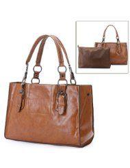 MELLIEHA Brown 2 in 1 Free Style Double Handles Oversized Shopper Tote Shoulder Bag Hobo Satchel Handbag Purse