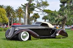 """1936 boat tail Auburn  I believe a car like this was the Kerby's car in the film """"Topper"""", Cary Grant's first screwball comedy role.***Research for possible future project."""