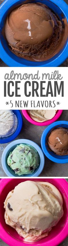 Deliciously smooth and ultra creamy almond milk ice cream, made with just 5 ingredients! Homemade Almond Milk Ice Cream Recipe Whether you're vegan, trying to cut back on dairy, or simply curious to Almond Milk Ice Cream, Non Dairy Ice Cream, Low Carb Ice Cream, Healthy Ice Cream, Vegan Ice Cream, Ice Milk, Coconut Milk, Easy Ice Cream Recipe, Homemade Ice Cream