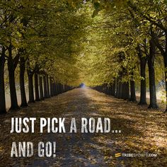 Just pick a road and go!