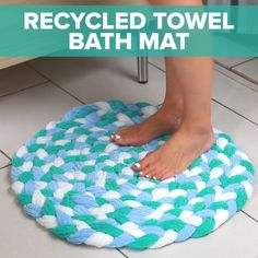 Turn Old Towels Into A Soft, Sophisticated Bath Mat                                                                                                                                                     More