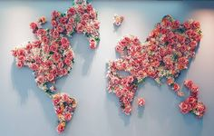 The world is made of roses! #world #roses #art #map