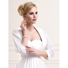 chle tole bolro de mariage mousseline de soie blanc noir ivoire accessoires de la marie - Etole Noire Pour Mariage