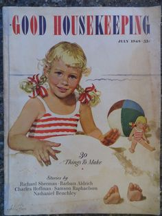 Good Housekeeping Magazine  July 1948  Alex Ross Cover  VINTAGE ADS