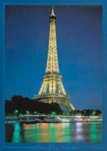 Eiffel Tower at Night, Paris - poster