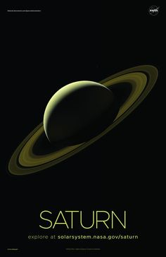 A selection of awe-inspiring NASA posters of our Solar System's second largest planet, Saturn, printed on premium satin paper. Space Planets, Space And Astronomy, Solar System For Kids, Hd Space, Solar System Poster, Saturn Planet, Eminem Photos, Cosmos, Hubble Space Telescope