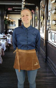 Leather Aprons - Ideal for the Hospitality Industry embroidered or embossed…