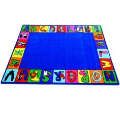 Kids World Rugs My ABC Squares Area Rug