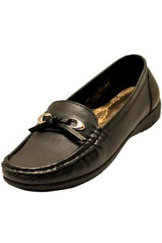 ac3c2fa5637 Black Classic Slip-On Ladies Dress Loafers Low Heel Dress Shoes