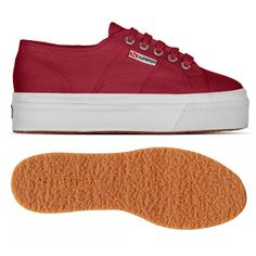 € 65.00 - 2790ACOTW LINEA UP AND DOWN - Fashionable Superga 2790 model with platform: shoes in canvas for woman with wedge 4 cm height, unlined upper in extrastrong, fully breathable pure cotton and outsole made with vulcanized natural rubber. Available in many fashion colours. Only at #Superga. #Superga! #shoes #red #sneakers #women's #footwear #style #online #store