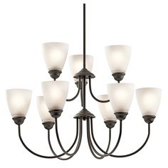 Jolie 9 Light Chandelier - Olde Bronze OZ