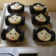 star wars cupcakes princess leia
