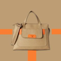 A streak of orange is just what you need to uplift your #casual looks and this #satchel will do the trick fashionably.