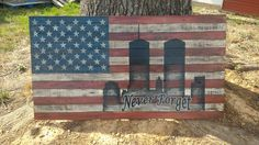 "60"" twin towers American flag"
