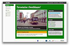 Web UI design for Onnikka / University of Oulu.