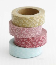 Floral Mums MASTÉ Japanese Washi Masking Tape will be great for scrapbooking, Journaling, and decor. Washi Tape Crafts, Duck Tape Crafts, Washi Tapes, Cinta Washi, Tapas, Decorative Tape, Paper Tape, Scrapbook Embellishments, Planner
