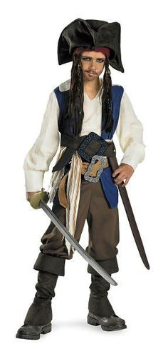 Pirates of the Caribbean 4 On Stranger Tides - Captain Jack Sparrow Child Costume: X-Large (14/16)