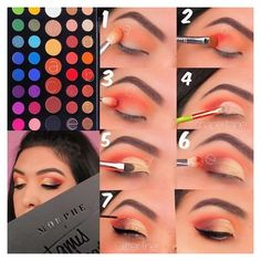 Makeup Eye Looks, Eye Makeup Steps, Eyeshadow Looks, Cute Makeup, Eyeshadow Makeup, Eyeshadow Ideas, Makeup Brushes, Morphe Eyeshadow, Creepy Makeup