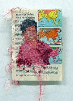pinning for a long look at the site. THOUSANDS of pins of crafts of all kinds!! Book Page Embroidery