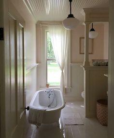 """oldfarmhouse: """" Isn't this farmhouse bathroom photo Devine? Traditional FarmHouse- -Farmhouse under renovation- reblog via Kristin/oldjoy @instagram """""""