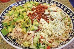 Rotisserie Chicken Chopped Salad with Sweet Mustard Vinaigrette