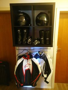 Motorcycle Gear Storage