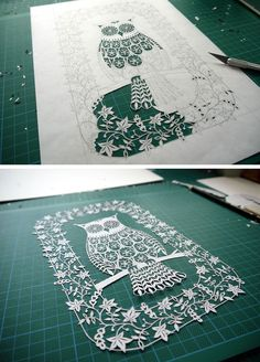 Owl of paper. Famous contemporary art | DIY is FUN