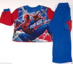 Marvel Kids Spiderman Boys Sleepwear Pajama Set Size 4-5 Multi-Color #Marvel #PajamaSets