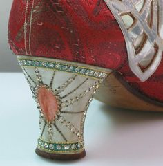 Incredible detail in 1920's flapper shoes
